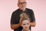 An easy top knot with Sam McKnight