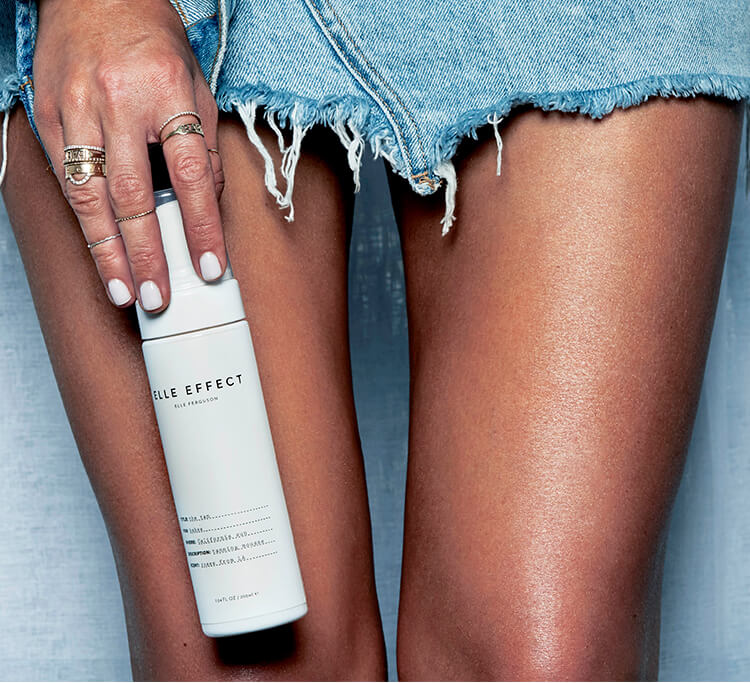 Elle Ferguson created her own tan and we're totally on board