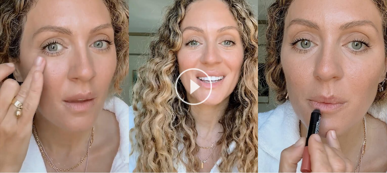 Watch: makeup artist Filomena Natoli gets ready (and tames her curls!) in 5 mins