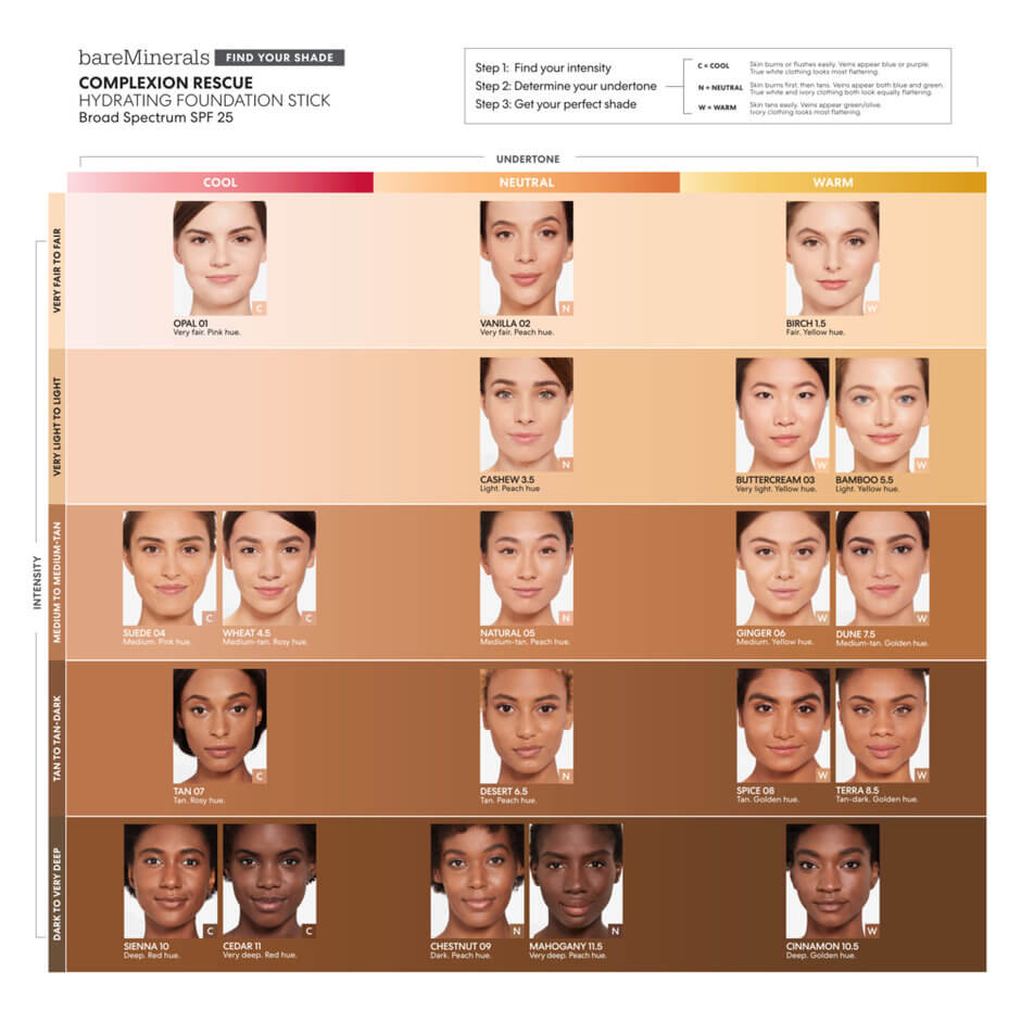 bareMinerals - Complexion Rescue Hydrating Foundation Stick - Opal 01