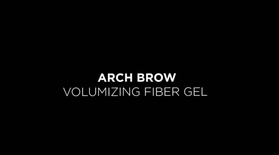 Arch Brow Volumizing Fiber Gel, Dark Brunette, video