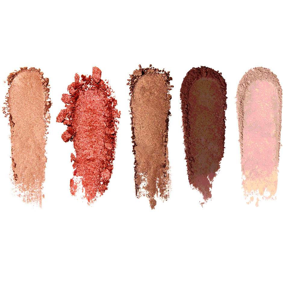 The Essentials Multicolor Eyeshadow Palette, Cranberry Spice, texture