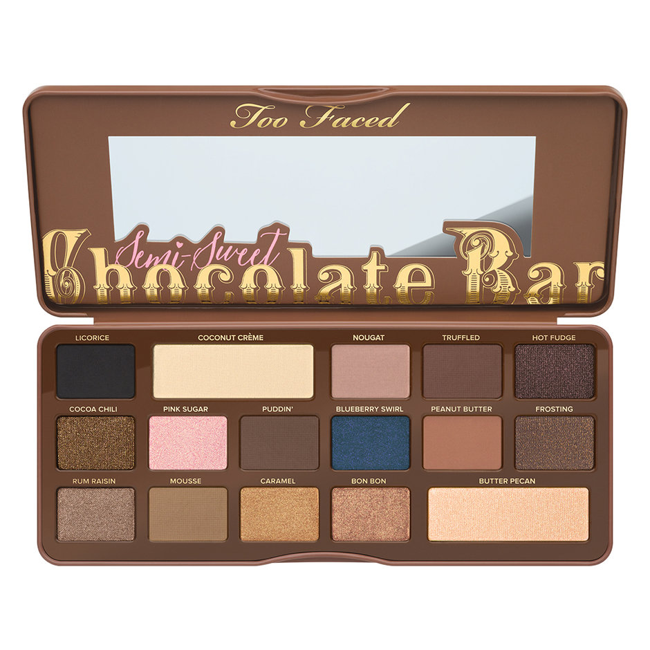 semi sweet chocolate bar eyeshadow palette too faced mecca. Black Bedroom Furniture Sets. Home Design Ideas