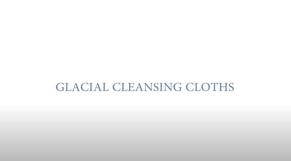 Glacial Cleansing Cloths, , video
