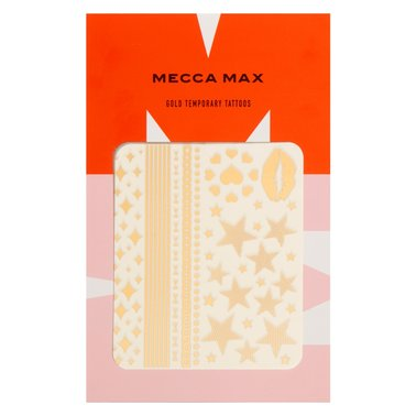 MECCA MAX - GOLD TEMPORARY TATTOOS