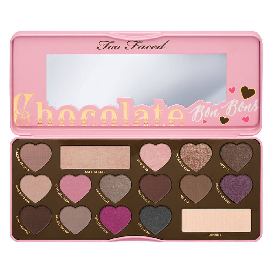 chocolate bon bons palette too faced mecca