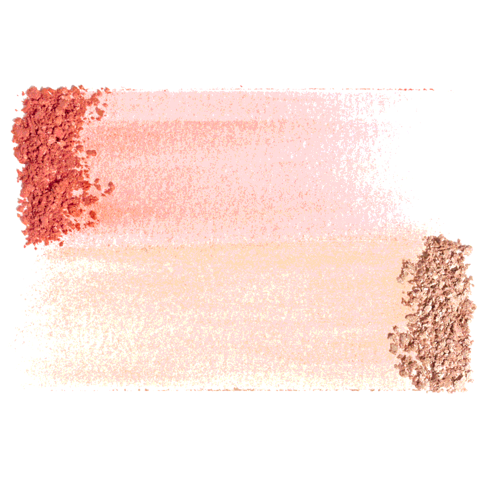 Radiance Chic Cheek and Highlighter Duo, Coral, texture