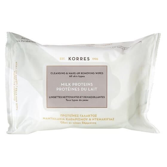 Korres - Milk Proteins Cleansing And Makeup Removing Wipes