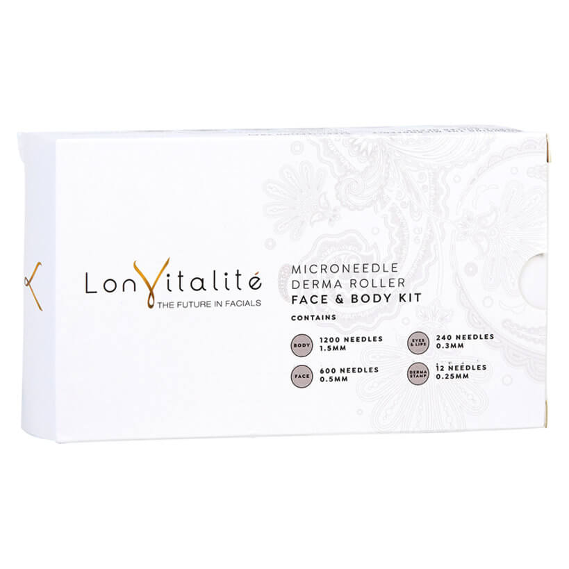 Lonvitalite - Microneedle Derma Roller Face and Body Kit