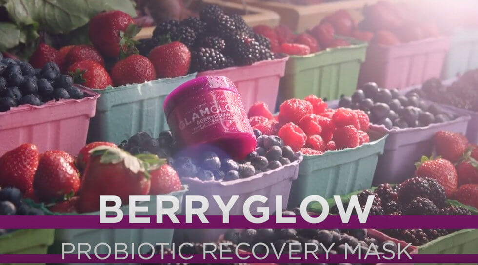 Berryglow Probiotic Recovery Mask, , video